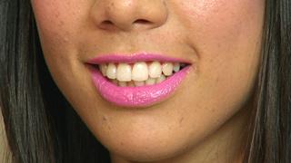 Lily Allen Neon Pink Lips